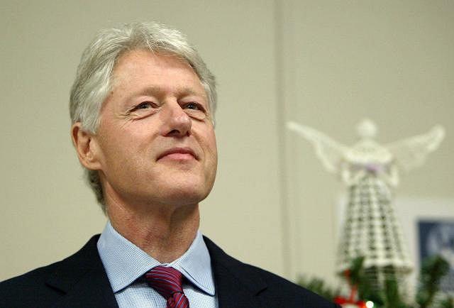 Bill Clinton w Westchester Medical Center po operacji wszczepienia bypassów w 2004 roku