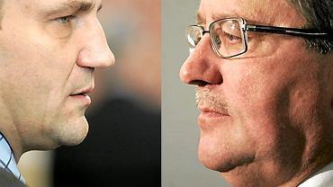 Radosław Sikorski i Bronisław Komorowski, kandydaci PO w prawyborach