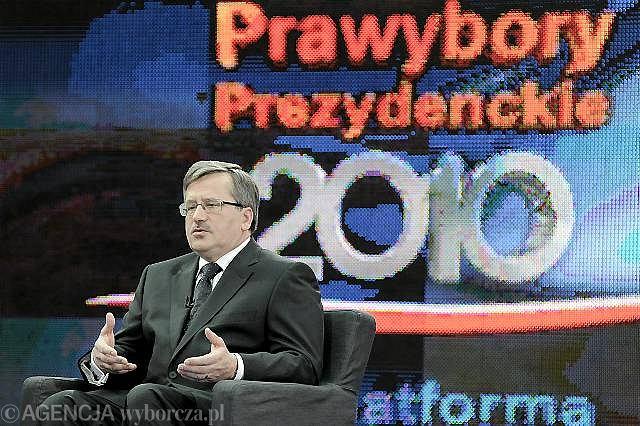Bronisław Komorowski podczas debaty