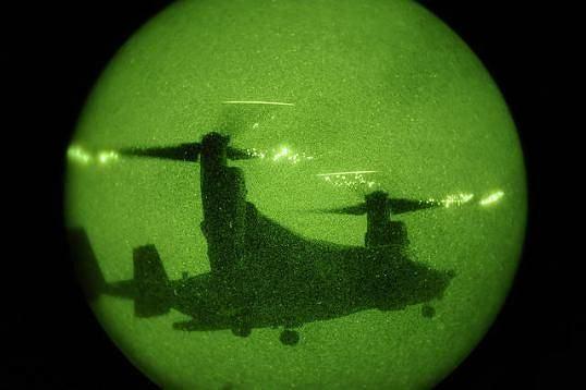 CV-22 Osprey ląduje w bazie na Florydzie 7 maja 2009.