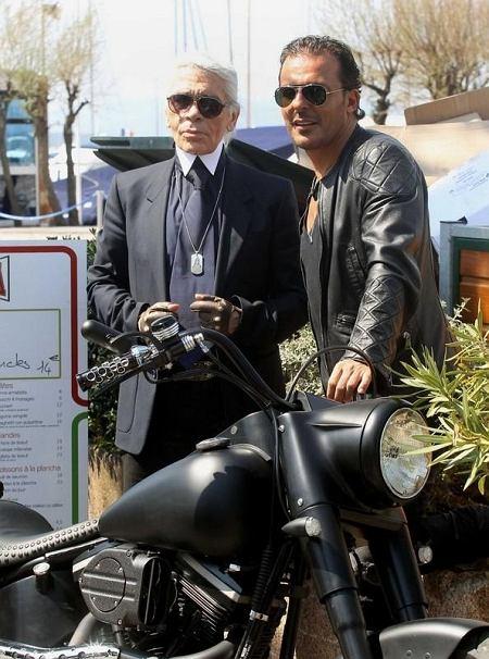 Karl Lagerfeld kręci film w Saint Triopez