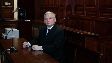Jarosław Kaczyński podczas rozprawy lustracyjnej kandydata na prezydenta