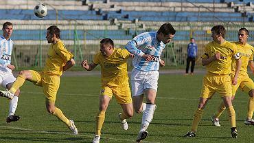 Olsztyńscy zawodnicy (biało-niebieskie stroje) są zdecydowanymi faworytami pojedynku z Concordią