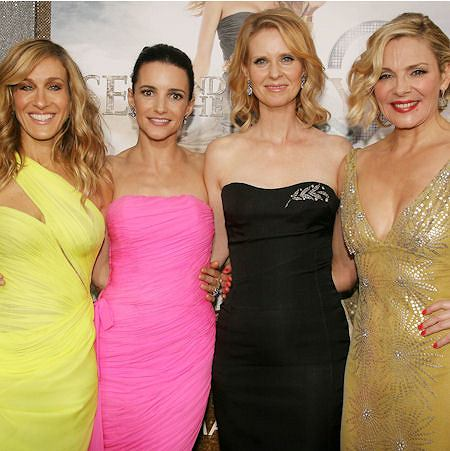 Sarah Jessica Parker, Kristin Davis, Cynthia Nixon i Kim Cattrall na premierze