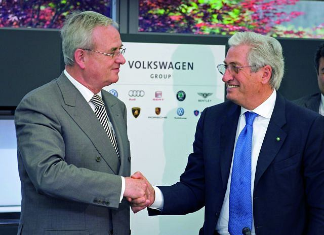 Prof. Dr. Martin Winterkorn, przewodniczący rady nadzorczej Volkswagena i Giorgetto Giugiaro, założyciel Italdesign Giugiaro