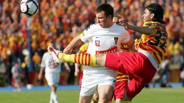 Mikołaj Lebedyński w meczu finału Pucharu Polski w 2010 r.