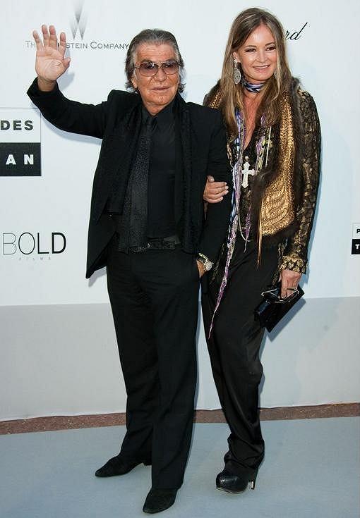 Roberto Cavalli z żoną Evą Duringer