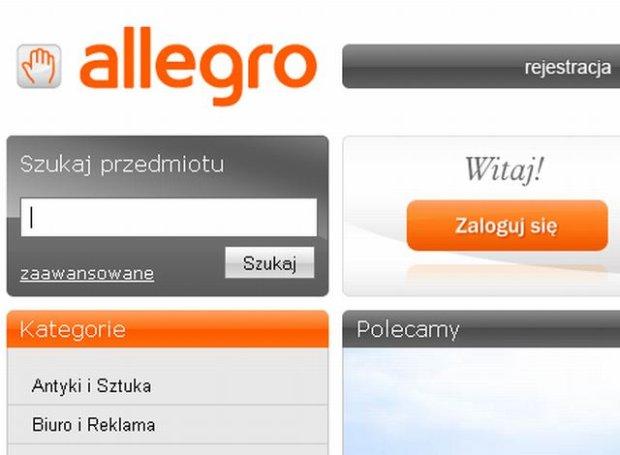 Strona główna serwisu Allegro