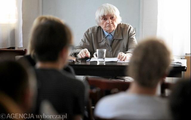 Prof. Maria Janion podczas ostatniego seminarium w Polskiej Akademii Nauk