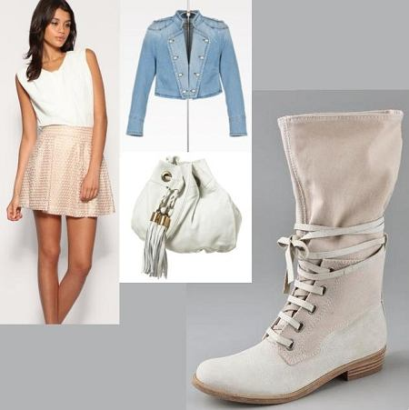 Buty - 7 For All Mankind, kurtka - Zara, spódnica - Warehouse / asos, torba - topshop;