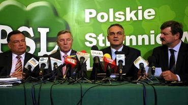 Adam Struzik, Michał Bożko, Waldemar Pawlak i Jarosław Kalinowski - najbardziej znani politycy PSL