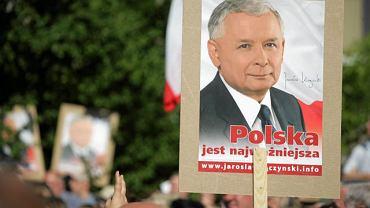 Wiec poparciaJarosława Kaczyńskiego