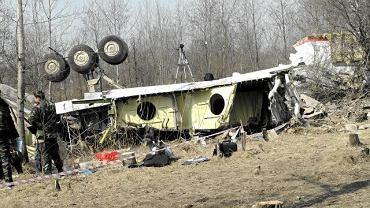 Miejsce katastrofy prezydenckiego samolotu Tu-154 w Smoleńsku