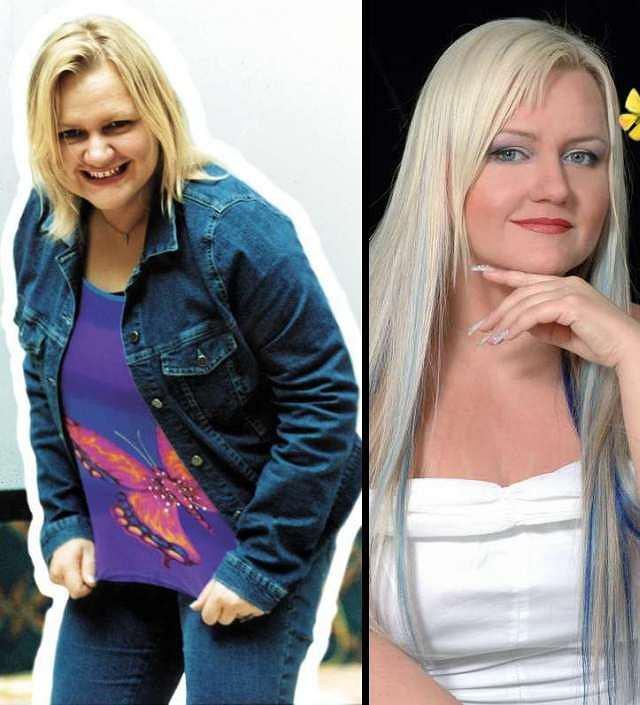 Manuela Michalak w 2001 i w 2010 r.