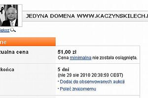 Strona kaczynskilech.pl na sprzedaż