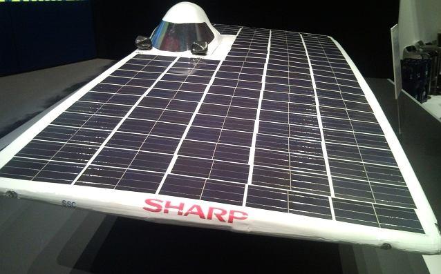 Samochód słoneczny Sharpa