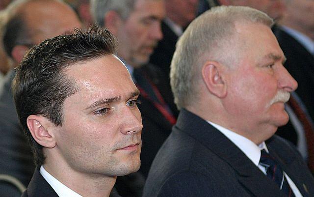 Jarosław Wałęsa z ojcem Lechem Wałęsą