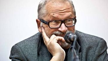 Grzegorz Rosiński (rysownik m.in. 'Thorgala') podczas warsztatów w Łodzi