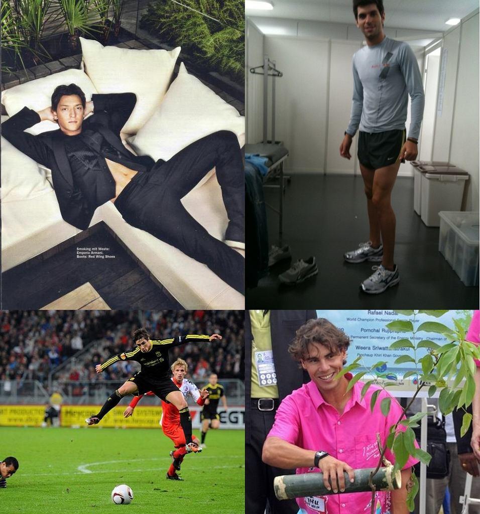 Mesut Oezil, Jaime Alguersuari, Fernando Torres, Rafael Nadal