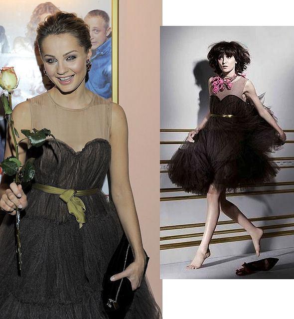 MAłgorzata Socha w sukience Lanvin dla H&M