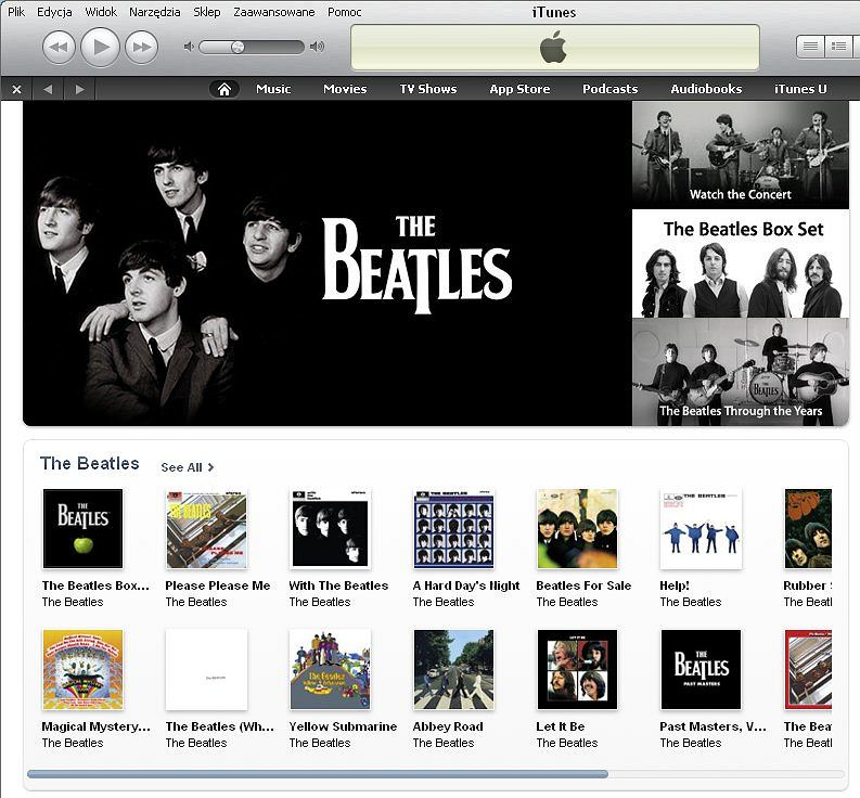 The Beatles w iTunes Music Store.
