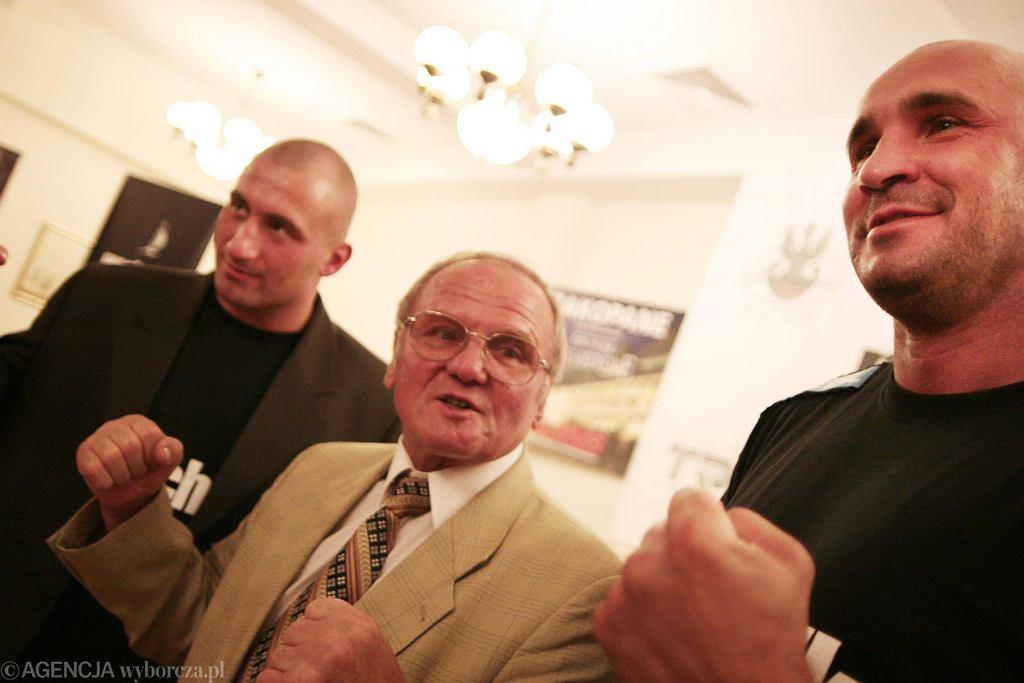 Od lewej: Marcin Najman, Jerzy Kulej, Przemysław Saleta