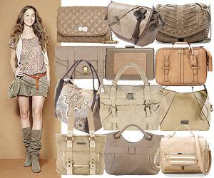 Przegląd: beżowe torebki