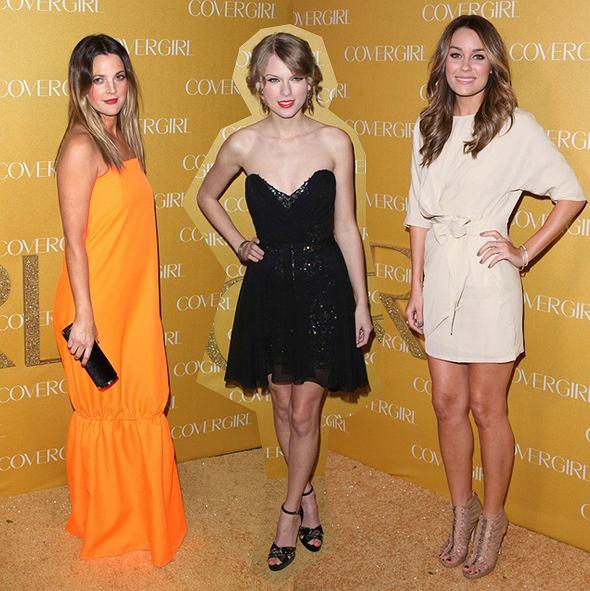 Drew Barrymore, Taylor Swift i Lauren Conrad na imprezie Covergirl