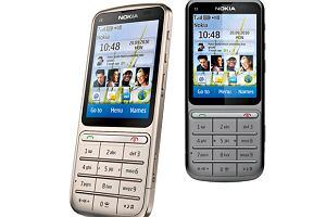 Nokia C3 Touch and Type - jednoręczny