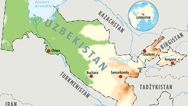 Karszy leży na południu Uzbekistanu