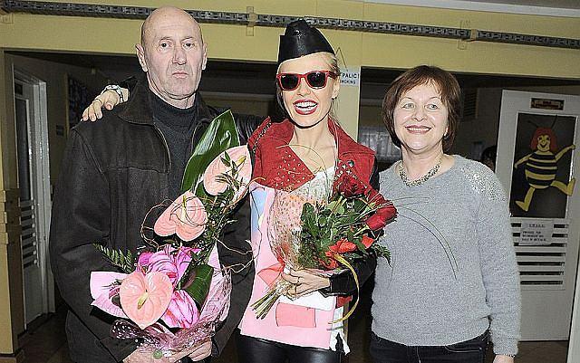 Doda wraz z rodzicami pojawiła się w Ciechanowie - swoim rodzinnym mieście.