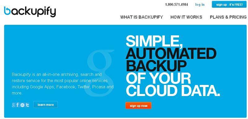Backupify - kopia zapasowa Gmaila