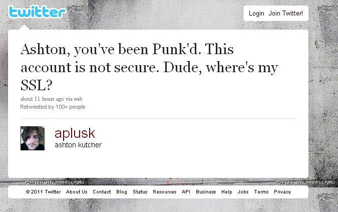 Tak wygląda Twitter Ashtona Kutchera po przejęciu przez hakera