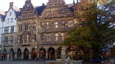 Münster, Kamienice przed kościołem św. Lamberta