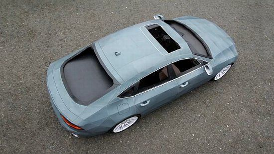 Audi A7 z papieru