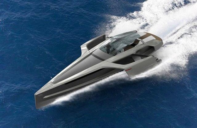 Jacht Trimaran, inspirowany Audi