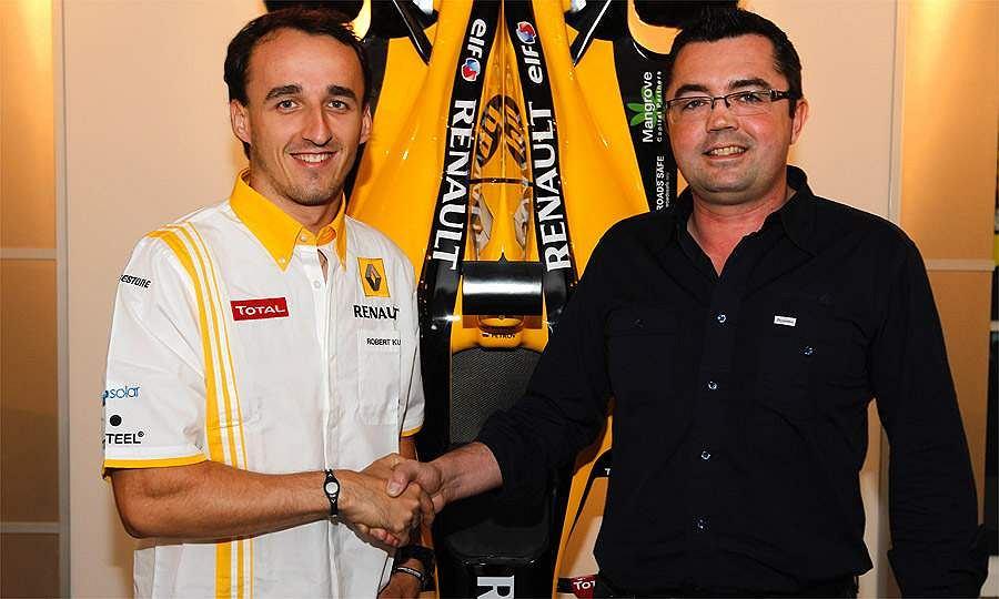 Robert Kubica i Eric Boullier