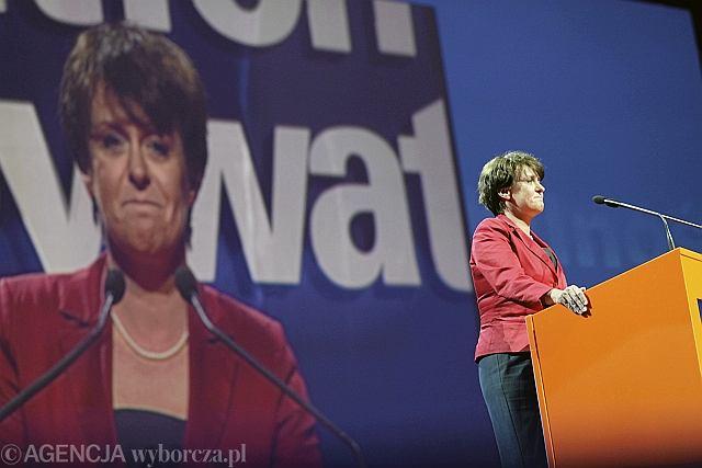 Joanna Kluzik-Rostkowska na konwencji PO w Gdańsku