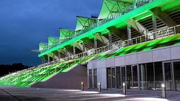 Próba świateł na nowym stadionie Legii w 2010 r.