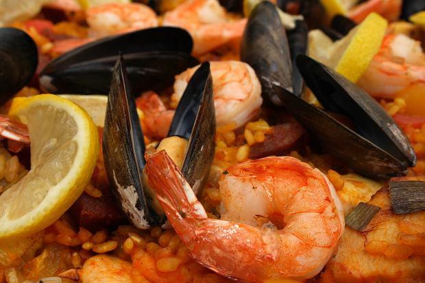 jedzenie, hiszpania, wyspy kanaryjskie, kuchnia, krewetki, paella