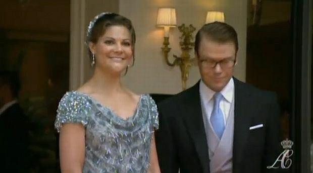 Księżniczka Victoria ze Szwecji z mężem