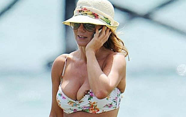 Geri Halliwell ostatnio ciągle wypadają piersi. Gwiazda niechcący pokazuje je całemu światu.