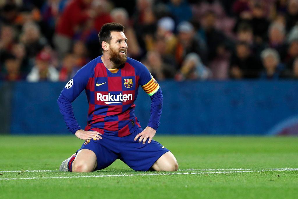 Lionel Messi podczas meczu: FC Barcelona - Slavia Praha. Barcelona, Hiszpania, 5 października 2019