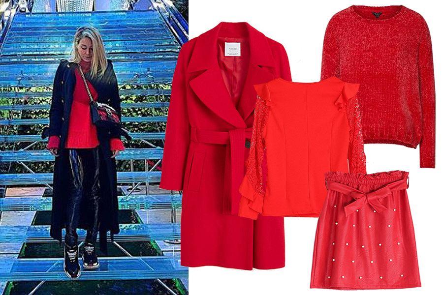 ubrania w czerwonym kolorze/mat. partnera