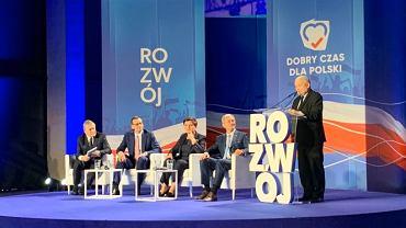 Jarosław Kaczyński na konwencji w Katowicach