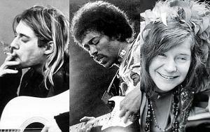 Kurt Cobain, Jimi Hendrix, Janis Joplin