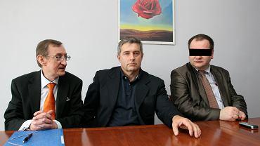 Józef Pinior, Władysław Frasyniuk i Jarosław W. na konferencji w 2009 roku