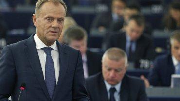 Szef Rady Europejskiej Donald Tusk w Parlamencie Europejskim