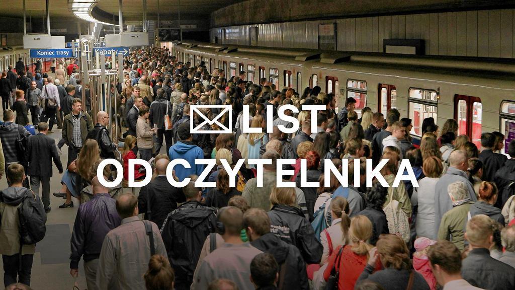 Tłumy na stacji metra Wierzbno