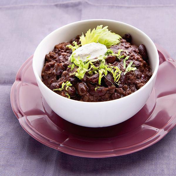 Chili con carne z gorzką czekoladą